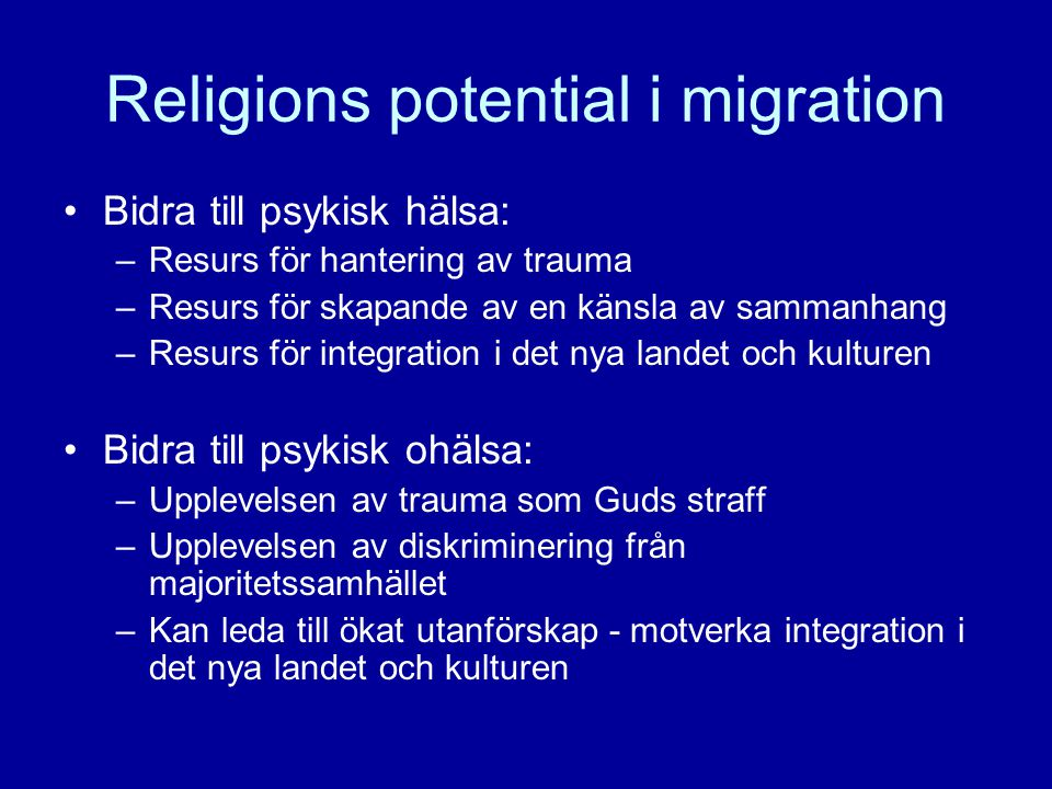 Religions potential i migration
