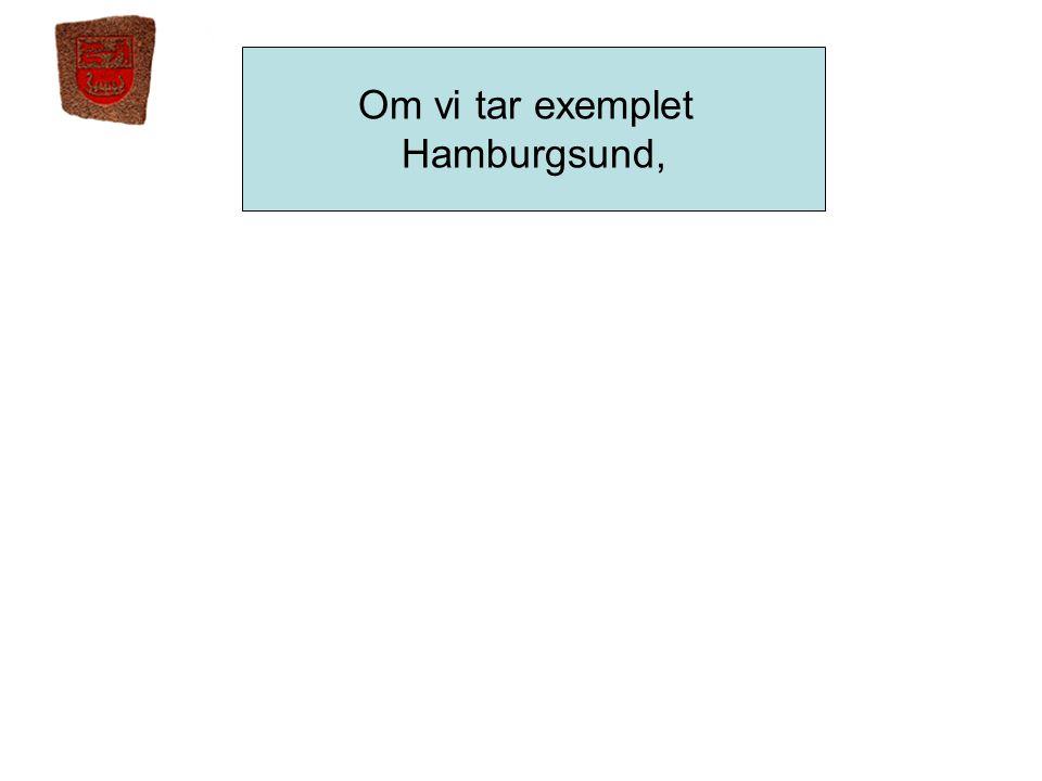 Om vi tar exemplet Hamburgsund,