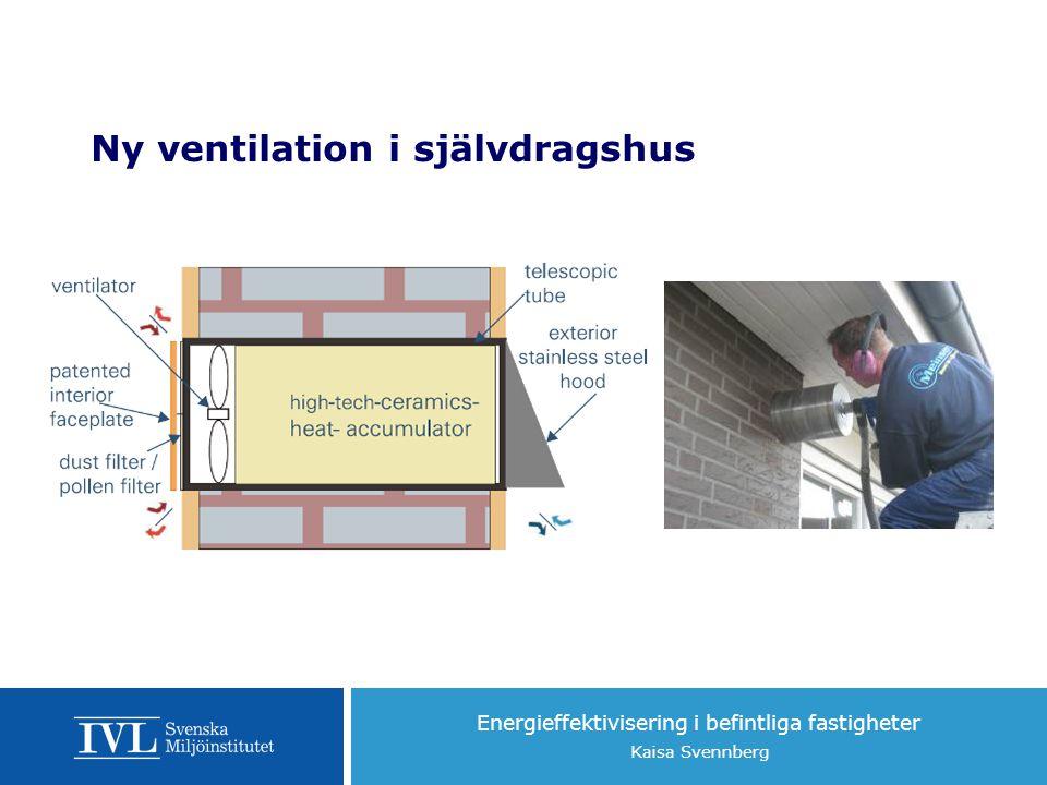 Ny ventilation i självdragshus