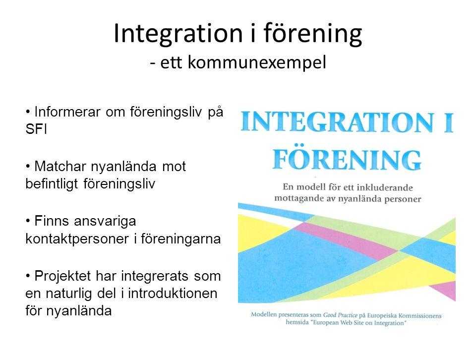 Integration i förening - ett kommunexempel