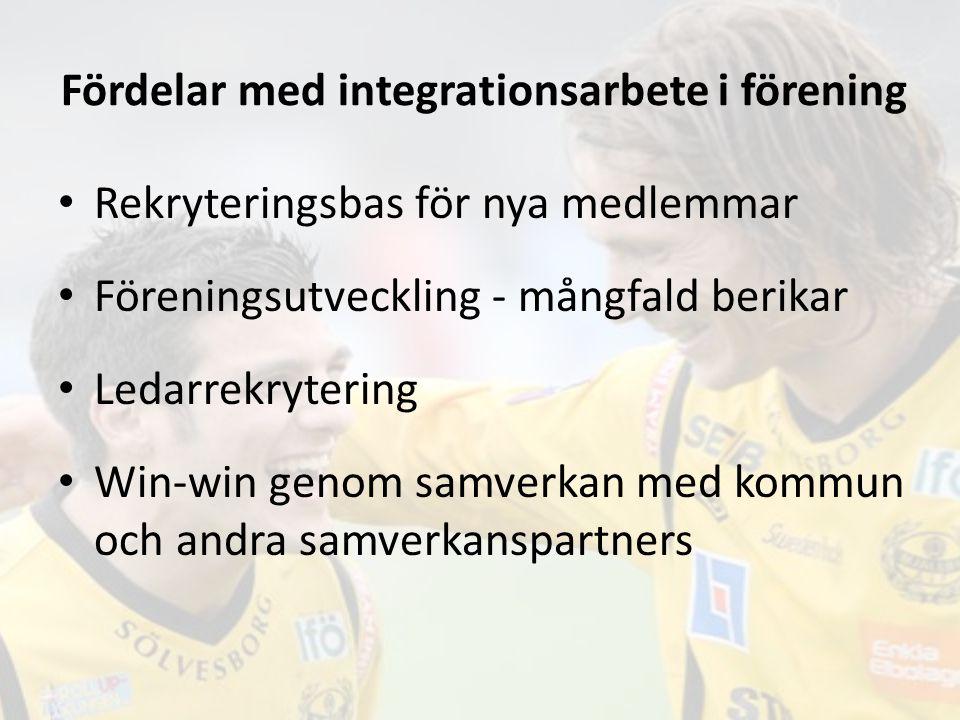 Fördelar med integrationsarbete i förening