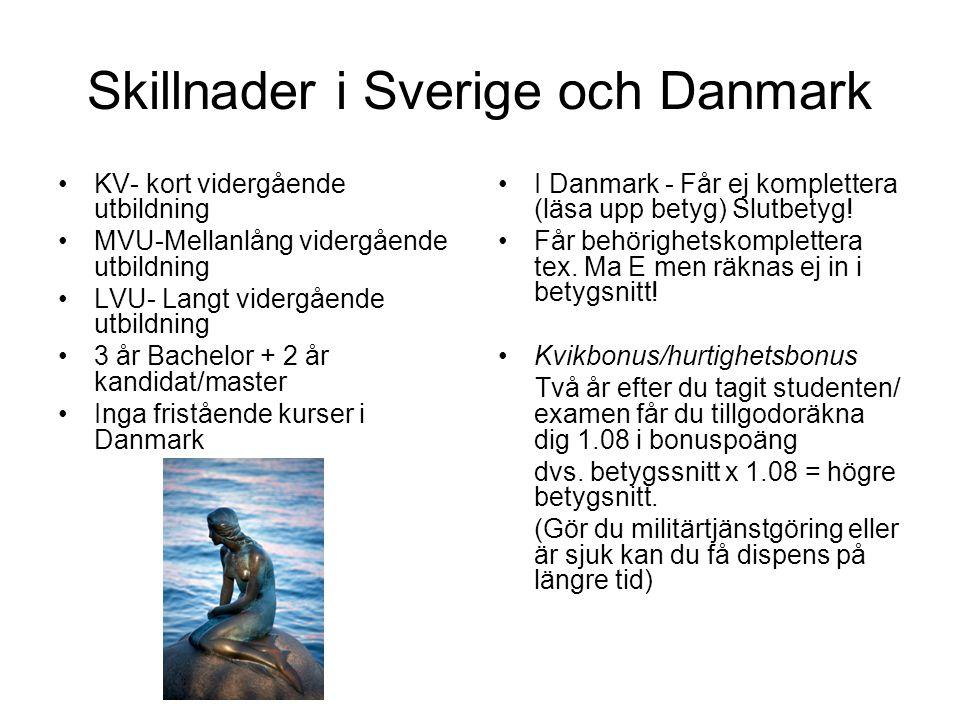 Skillnader i Sverige och Danmark