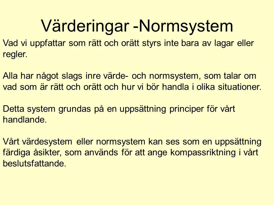 Värderingar -Normsystem