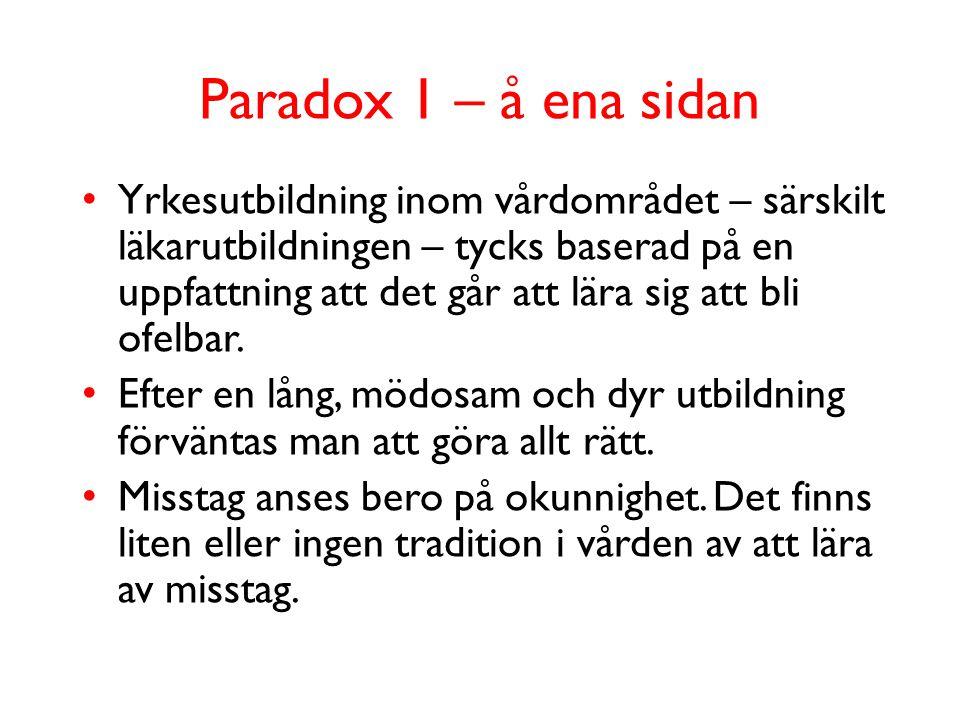 Paradox 1 – å ena sidan