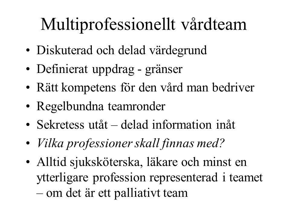 Multiprofessionellt vårdteam