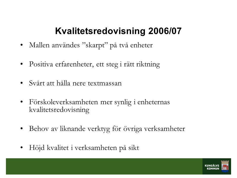 Kvalitetsredovisning 2006/07