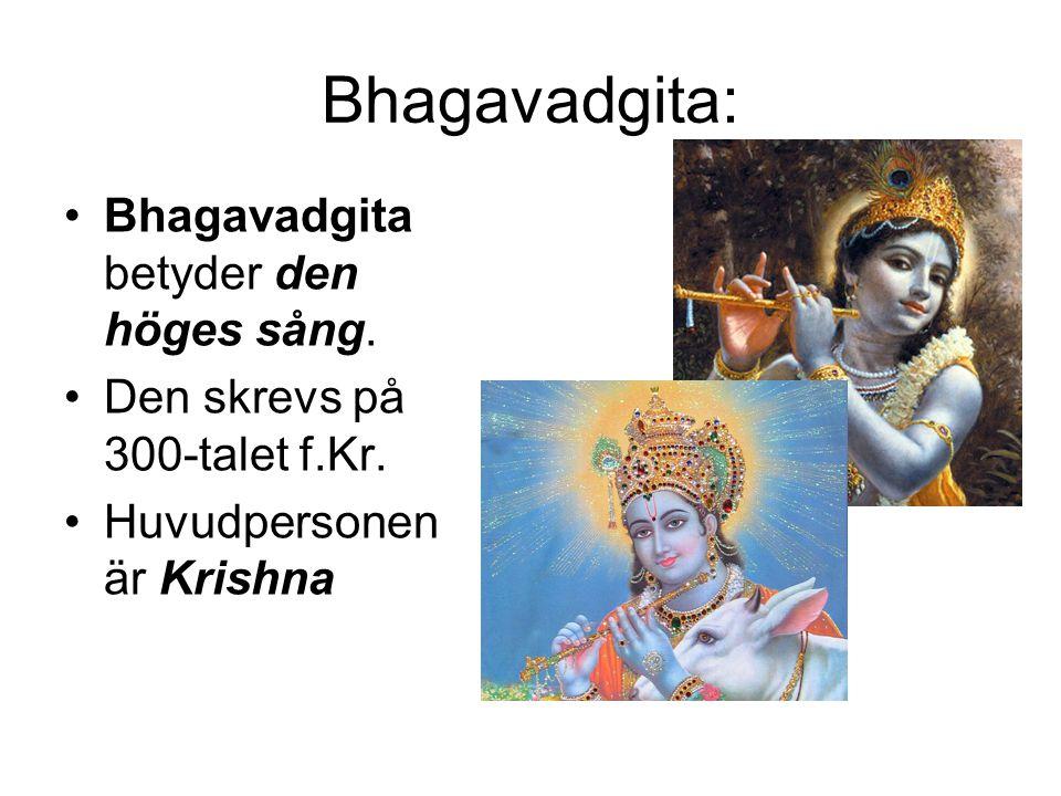 Bhagavadgita: Bhagavadgita betyder den höges sång.