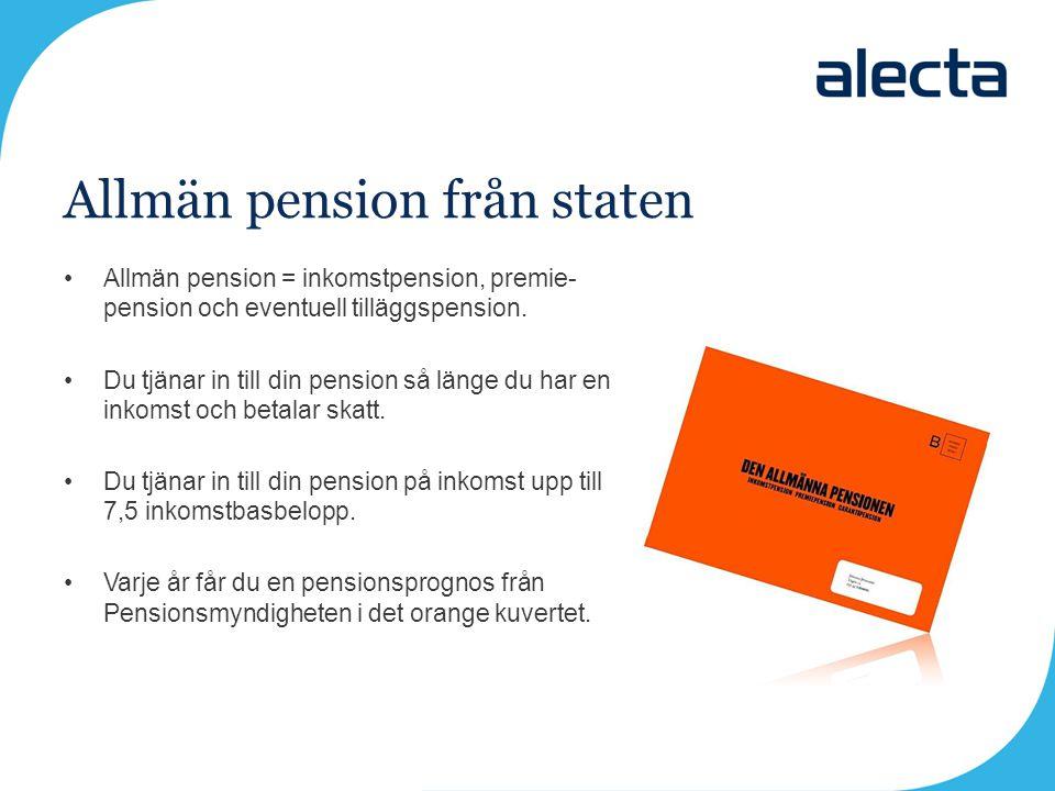 Allmän pension från staten