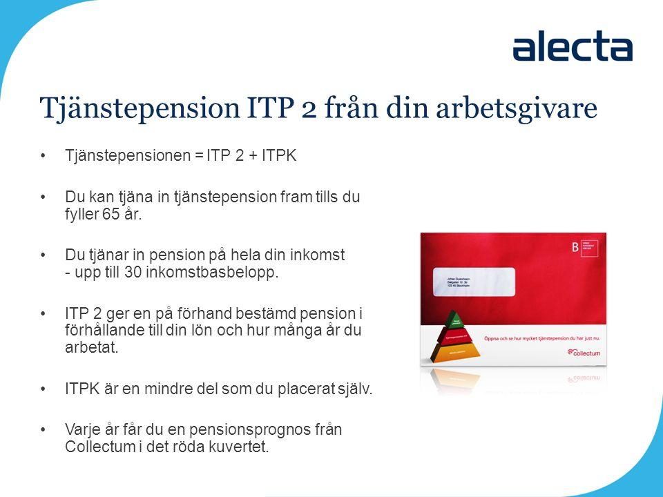 Tjänstepension ITP 2 från din arbetsgivare