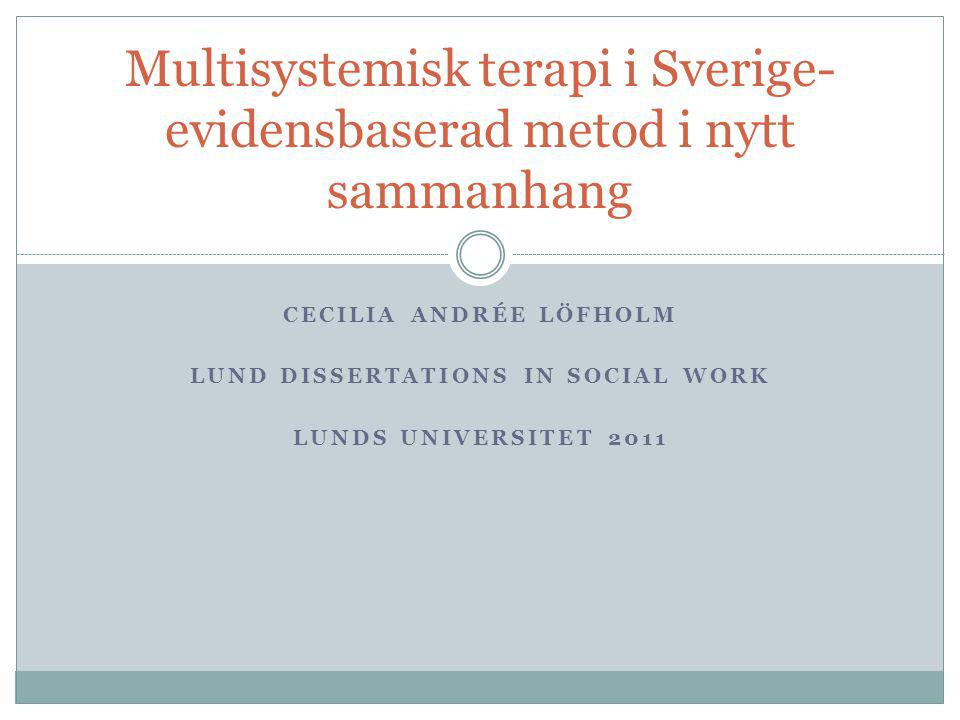 Cecilia andrée löfholm Lund dissertations in social work