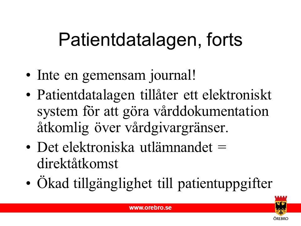 Patientdatalagen, forts