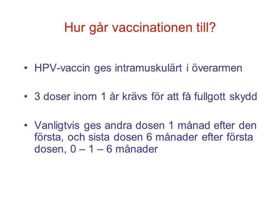 Hur går vaccinationen till