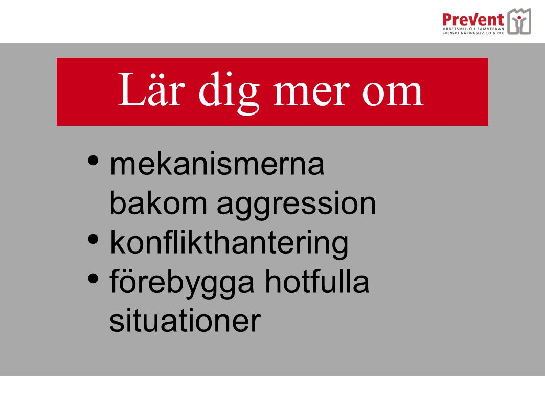 Lär dig mer om mekanismerna bakom aggression konflikthantering