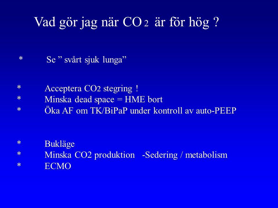 Vad gör jag när CO 2 är för hög
