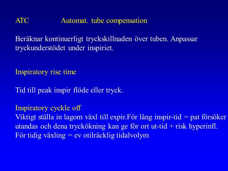 ATC Automat. tube compensation