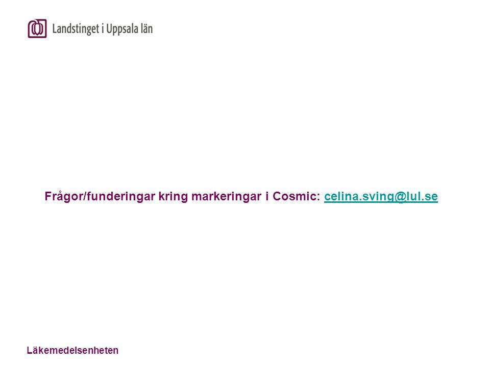 Frågor/funderingar kring markeringar i Cosmic: celina.sving@lul.se