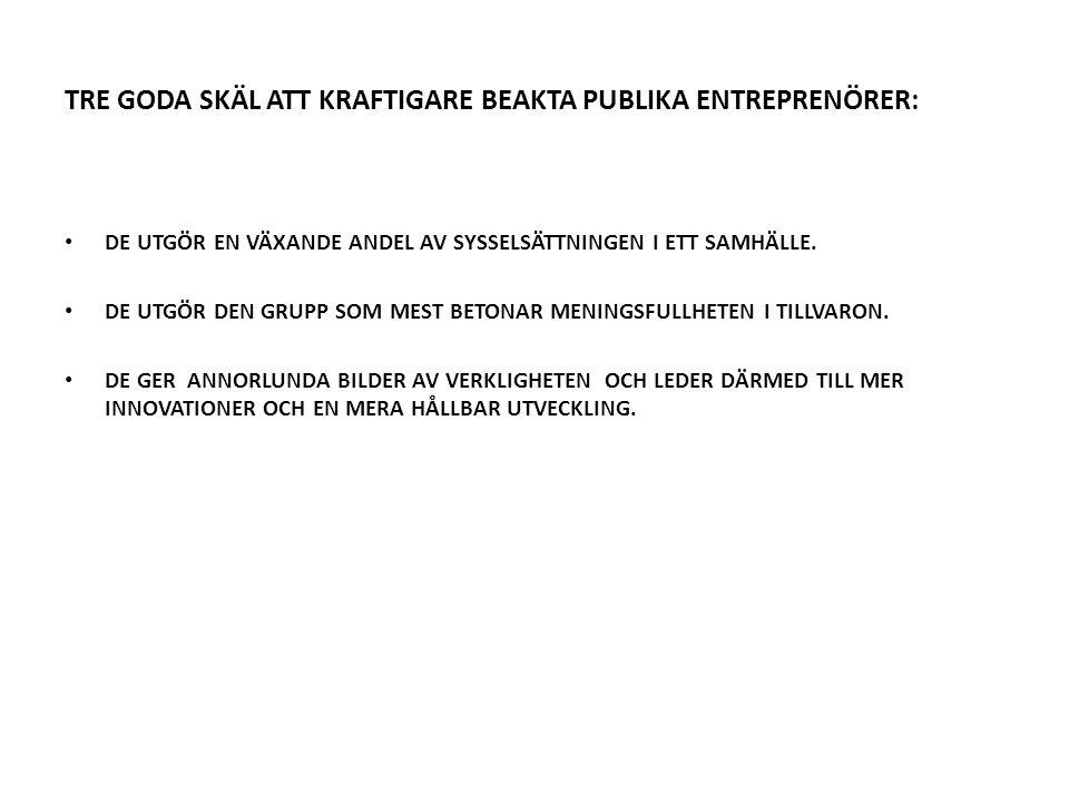 TRE GODA SKÄL ATT KRAFTIGARE BEAKTA PUBLIKA ENTREPRENÖRER: