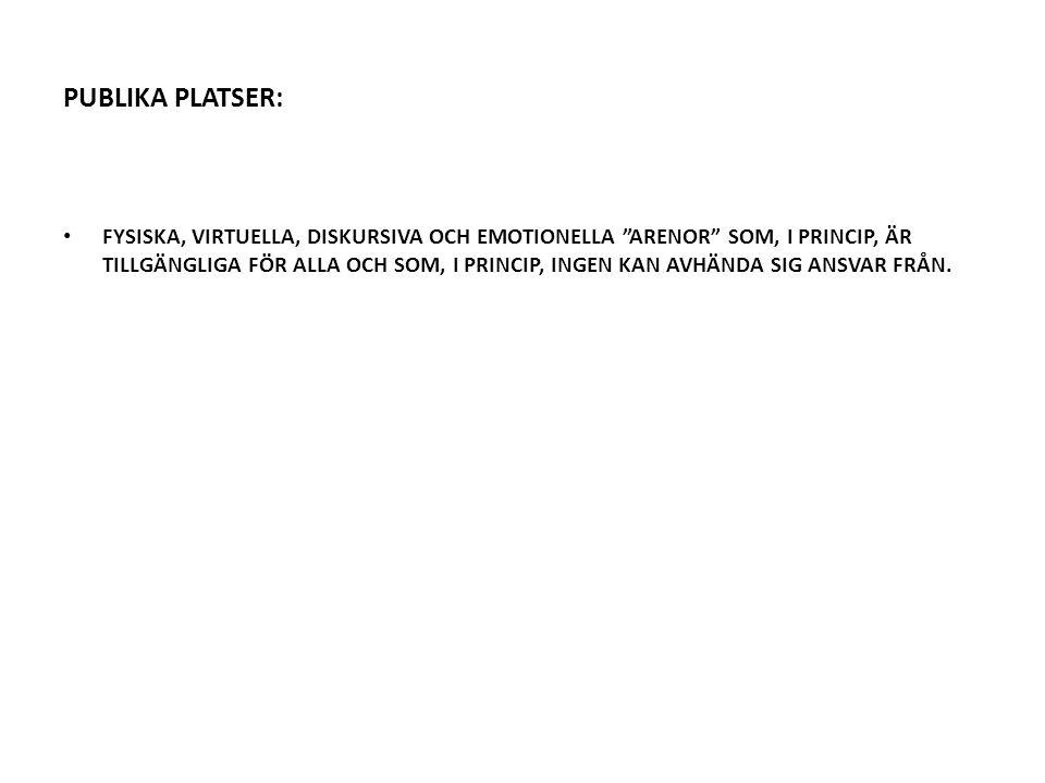 PUBLIKA PLATSER: