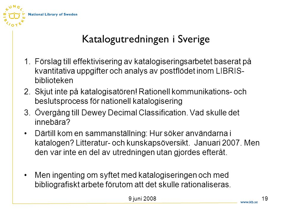 Katalogutredningen i Sverige
