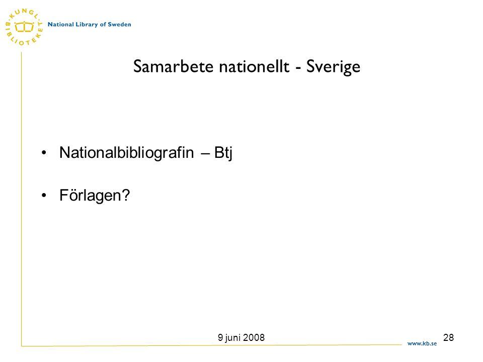 Samarbete nationellt - Sverige