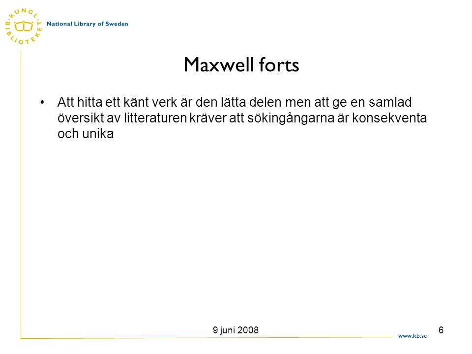 Maxwell forts