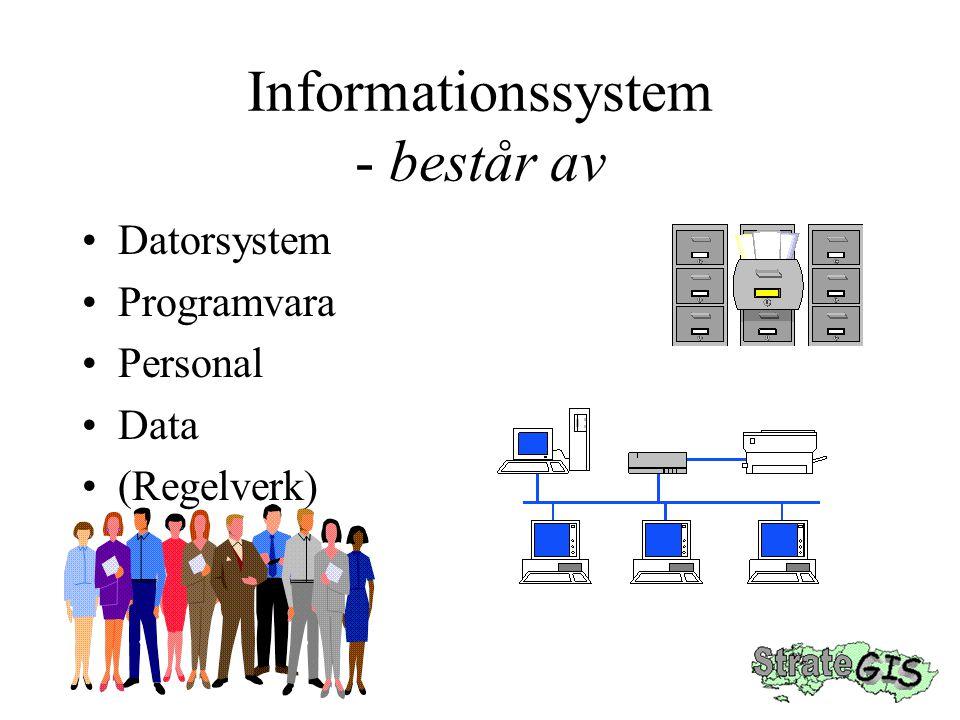 Informationssystem - består av