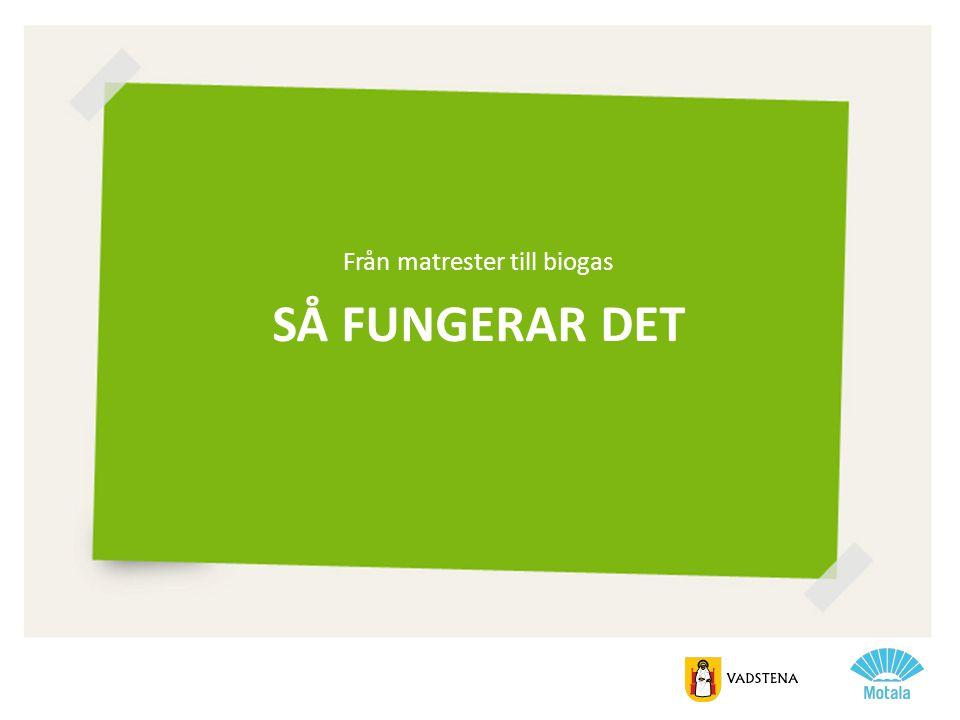 Från matrester till biogas