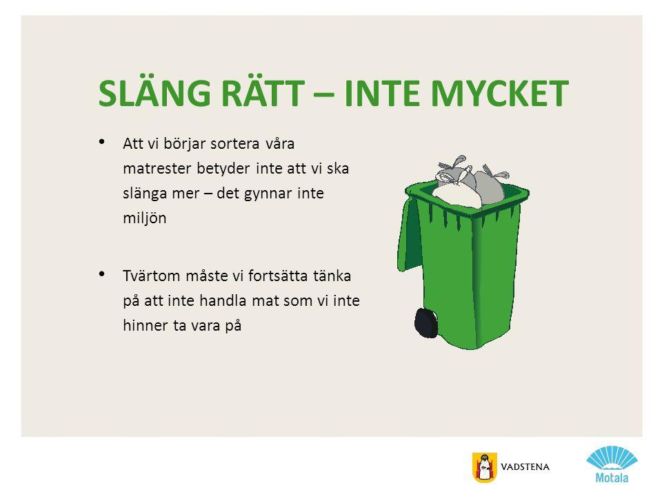 SLÄNG RÄTT – INTE MYCKET