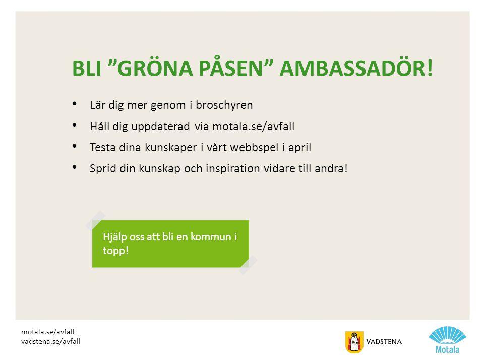 Bli Gröna påsen ambassadör!