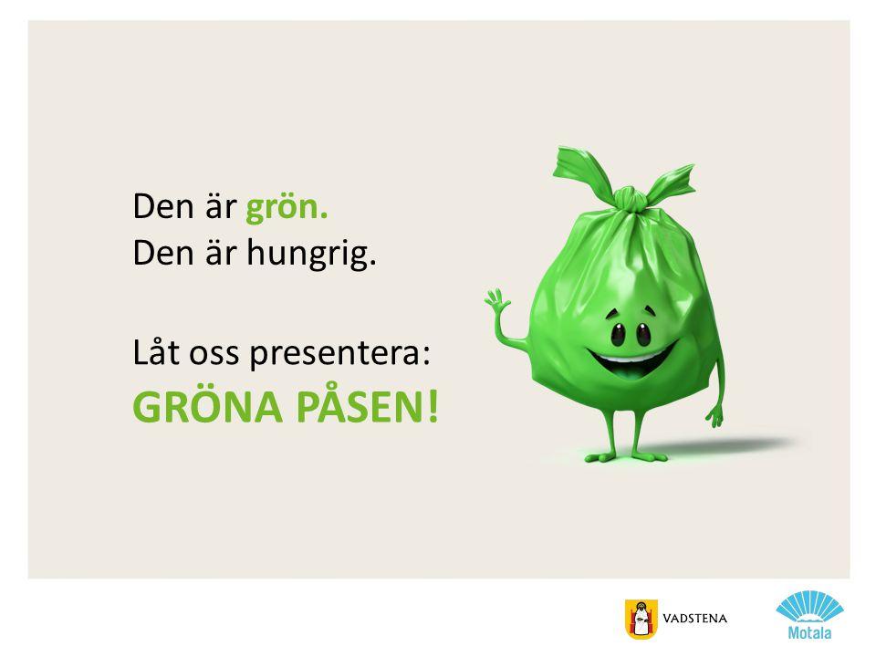 Gröna påsen! Den är grön. Den är hungrig. Låt oss presentera:
