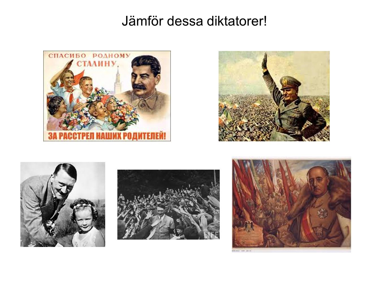Jämför dessa diktatorer!