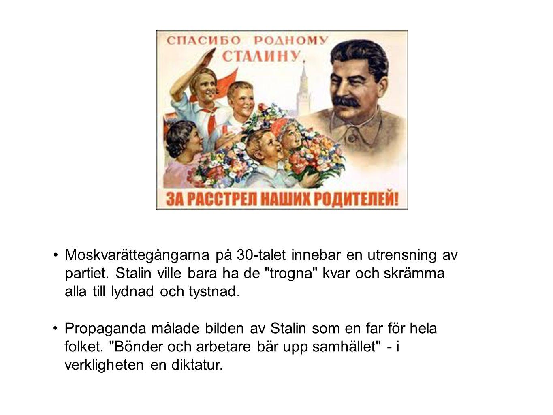 Moskvarättegångarna på 30-talet innebar en utrensning av partiet