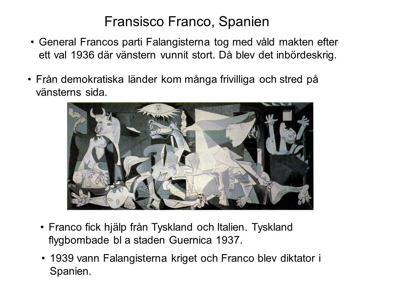 Fransisco Franco, Spanien