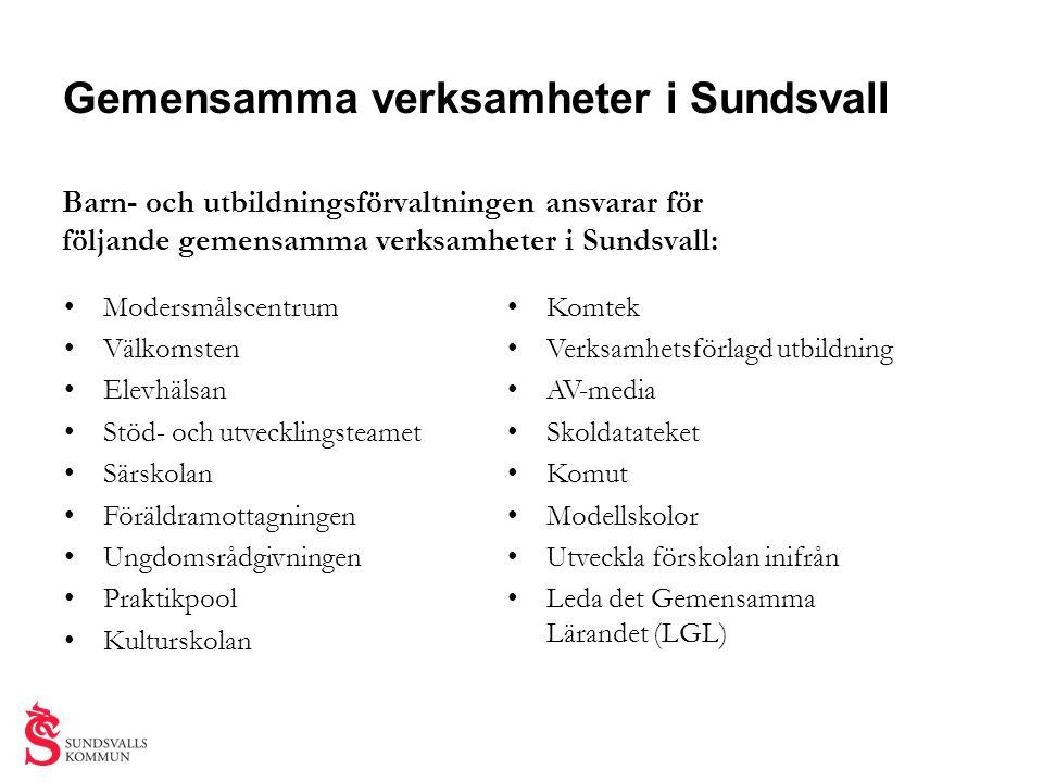 Gemensamma verksamheter i Sundsvall