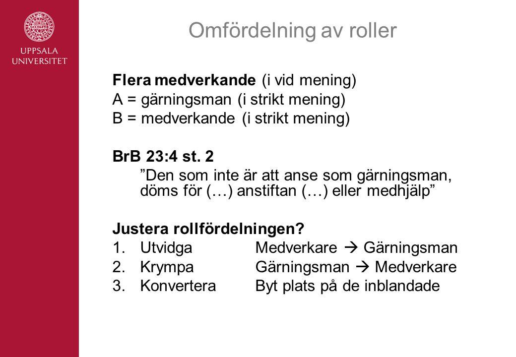 Omfördelning av roller