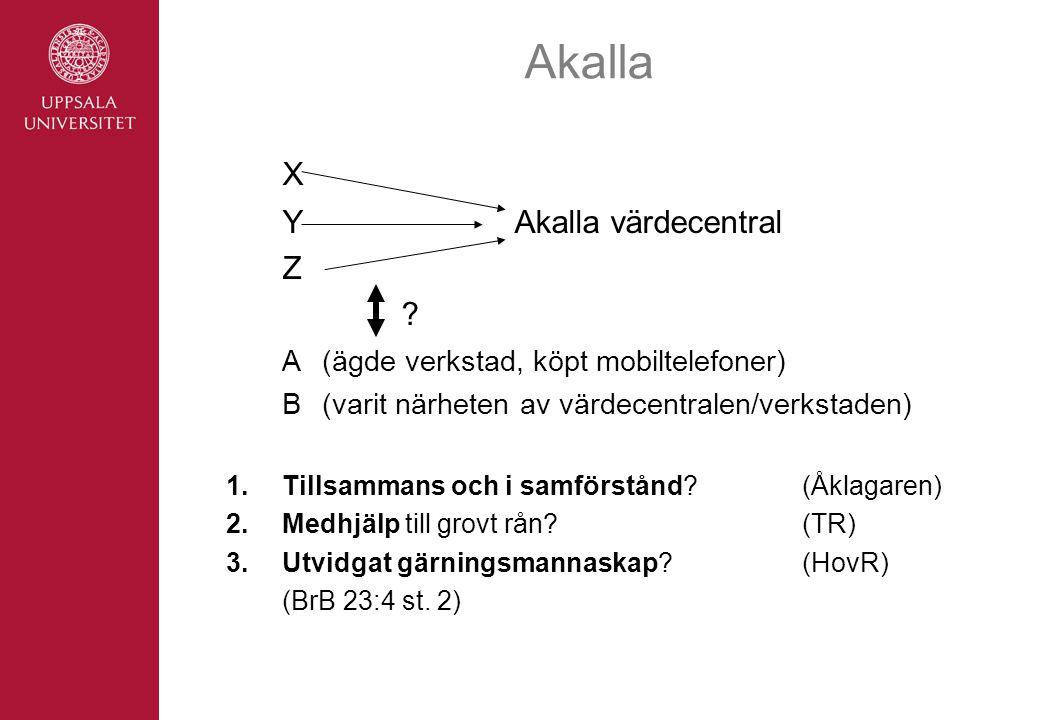Akalla X Y Akalla värdecentral Z