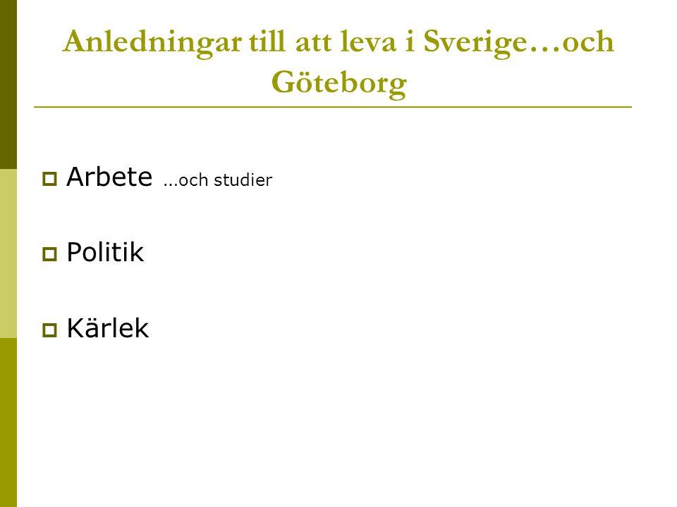 Anledningar till att leva i Sverige…och Göteborg