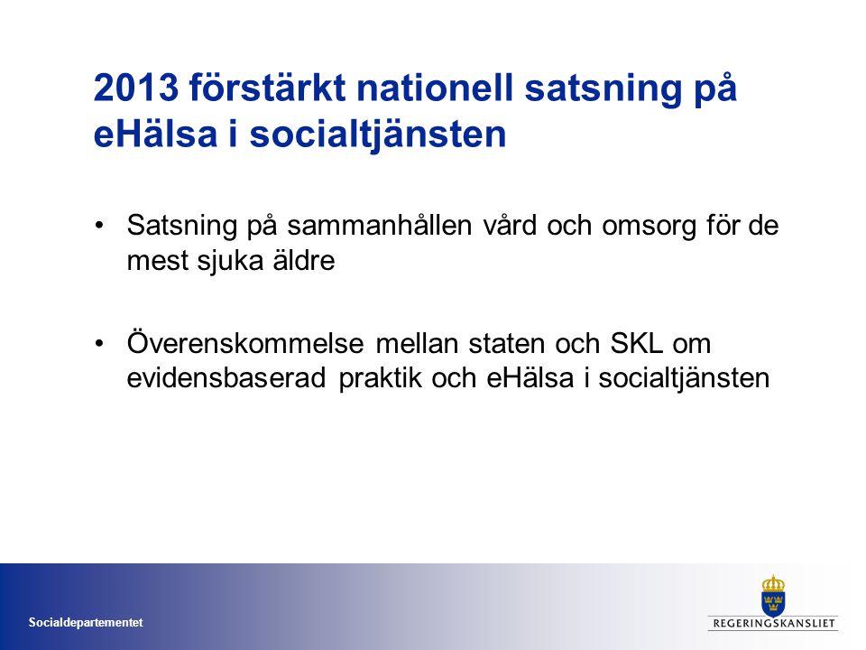 2013 förstärkt nationell satsning på eHälsa i socialtjänsten