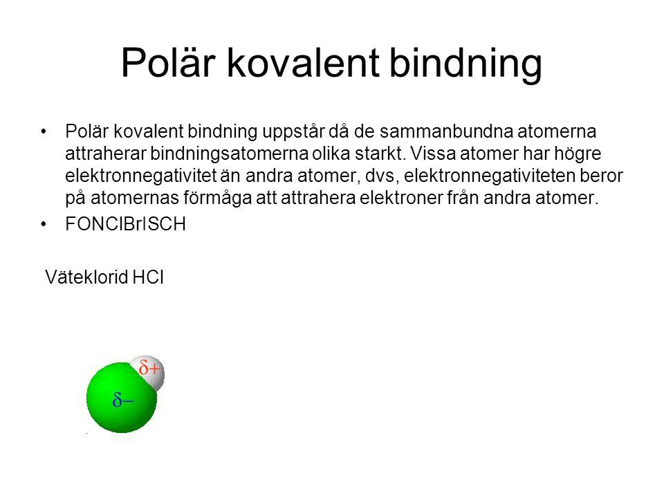 Polär kovalent bindning