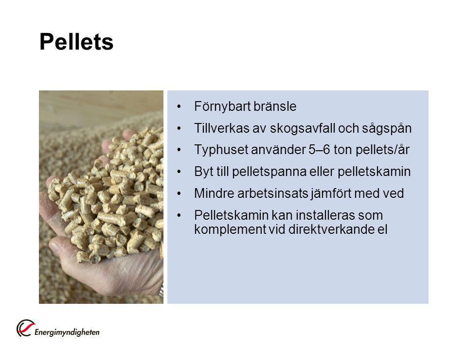 Pellets Förnybart bränsle Tillverkas av skogsavfall och sågspån