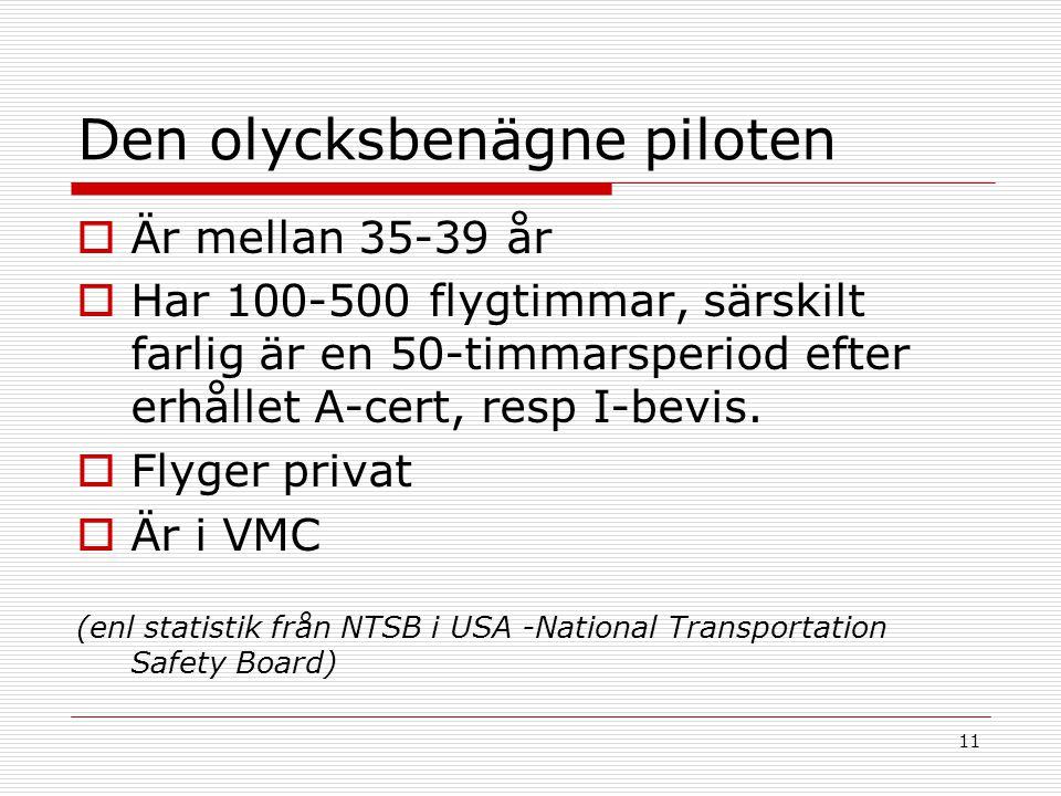 Den olycksbenägne piloten