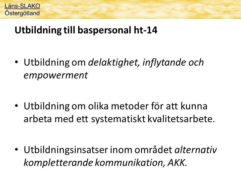 Utbildning till baspersonal ht-14