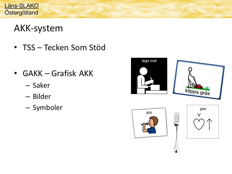 AKK-system TSS – Tecken Som Stöd GAKK – Grafisk AKK Saker Bilder