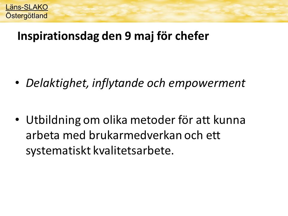 Inspirationsdag den 9 maj för chefer