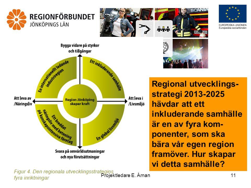 Regional utvecklings-strategi 2013-2025 hävdar att ett inkluderande samhälle är en av fyra kom-ponenter, som ska bära vår egen region framöver. Hur skapar vi detta samhälle