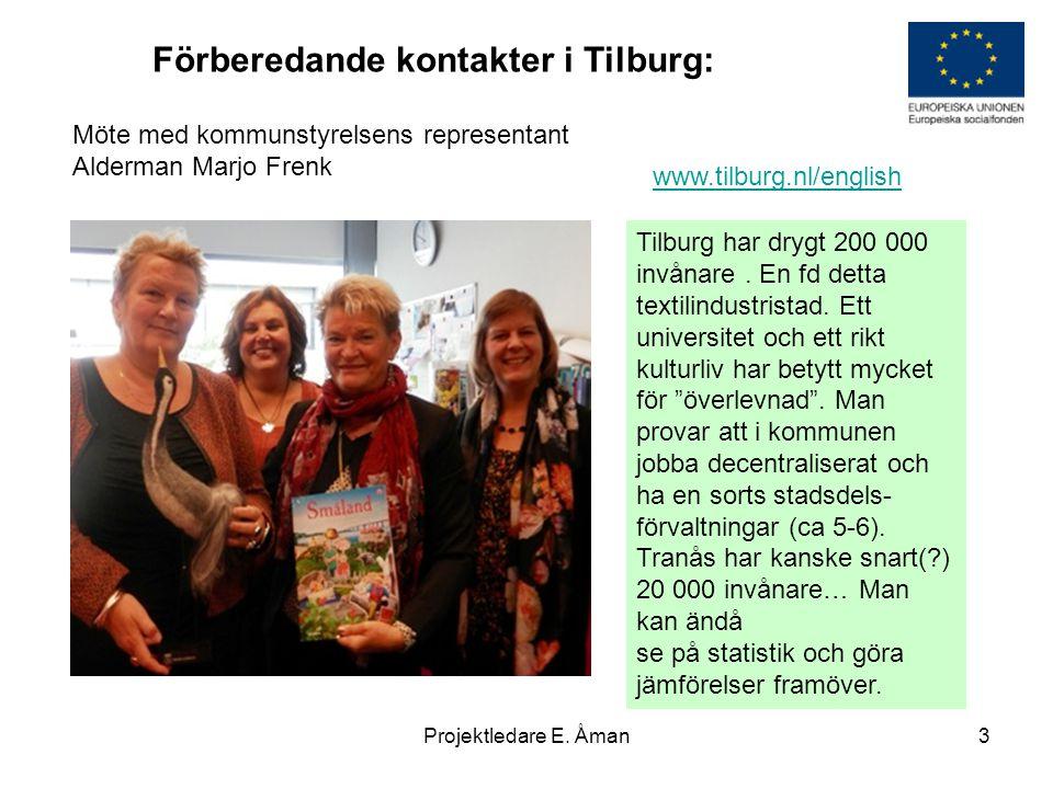 Förberedande kontakter i Tilburg: