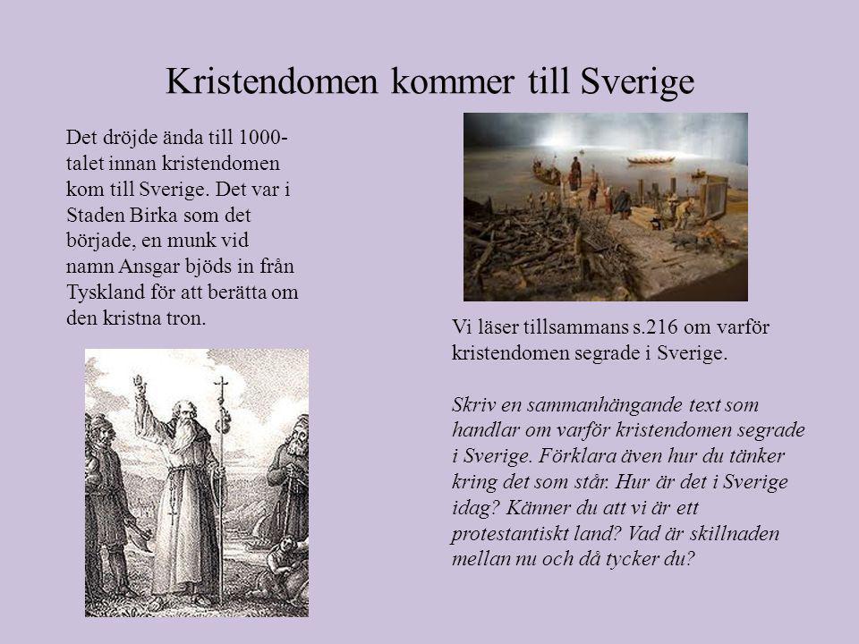 Kristendomen kommer till Sverige