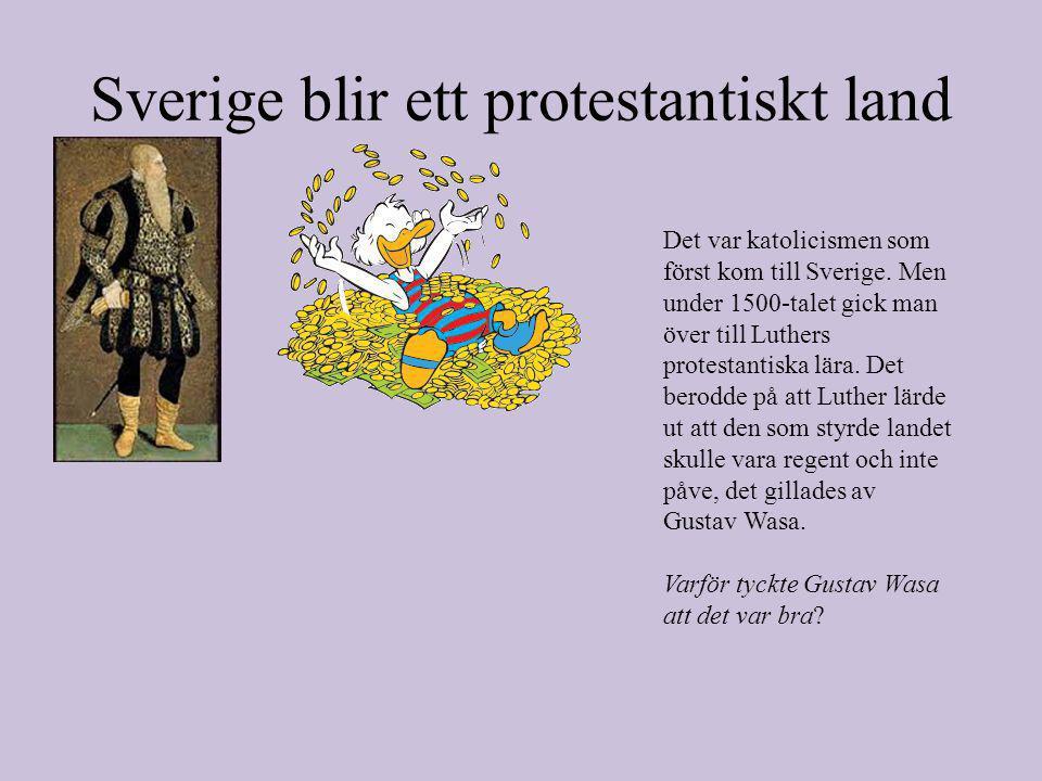 Sverige blir ett protestantiskt land