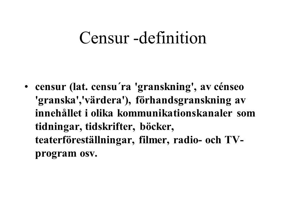Censur -definition