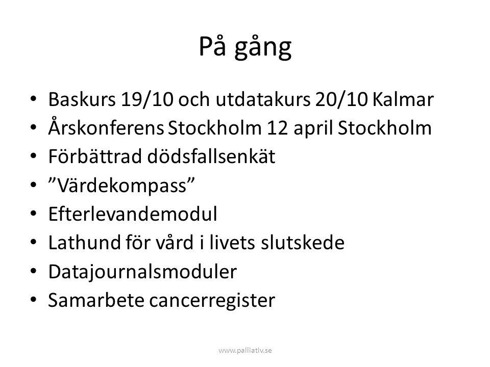 På gång Baskurs 19/10 och utdatakurs 20/10 Kalmar